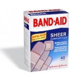 Band-Aid Sheer Bandage Comfort Flex Assorted - 40****OTC DISCONTINUED 3/5/14