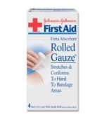 Johnson & Johnson Gauze Roll Sterile 4 Inch X 2.5 Yd Each