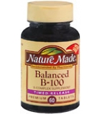 Nature Made Balanced B-100 Tablets Timed Release 60ct