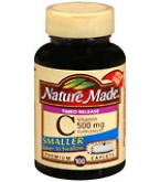 Nature Made Vitamin C 500 mg Caplets Timed Release 100ct