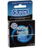 Durex Natural Feeling Condoms Lubricated Latex 3 ct****OTC DISCONTINUED 2/28/14