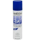 Condition 3-In-1 Hairspray Aerosol Maximum Hold Unscented 7 oz