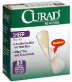 Curad Bandages Sheer Regular Size  80ct