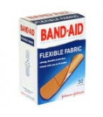 Band-Aid Flexible Fabric 3/4 inch x 3 inch 30 ct.****OTC DISCONTINUED 3/5/14