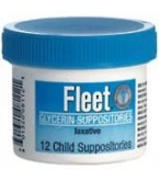 Fleet Glycerin Suppository Child 12****OTC DISCONTINUED 2/28/14