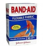 Band-Aid Bandage Flexible Fabric Assorted 30/Box