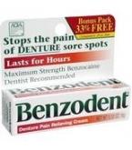 Benzodent Denture Pain Cream .25oz