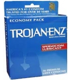 Trojan-Enz Condoms Spermicidal Lubricant Latex - 36***SUPPLIER DISCONTINUED 2/21/14