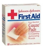 Johnson & Johnson Gauze Pad Sterile Small 2 Inch X 2 Inch 10/Box