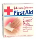 Johnson & Johnson Gauze Pad Sterile Medium 3 inch X 3 inch 10/Box