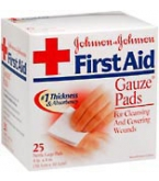 Johnson & Johnson First Aid Gauze Pads 4 Inches X 4 Inches  25ct