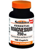 Sundown Magnesium 250 mg Caplets - 100****OTC DISCONTINUED 2/28/14