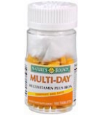 Natures Bounty Multi-Day Plus Iron Tablets 100ct