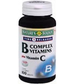 Natures Bounty Vitamin B Complex Tab Plus Vitamin C Time Released 100ct