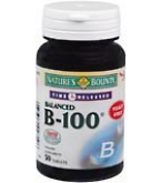 Natures Bounty Vitamin B-100 Tablets Time Released 50ct