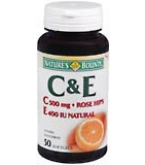Natures Bounty Vitamin C and E Softgels 50ct