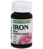 Natures Bounty Iron 28 mg Tablets 100ct