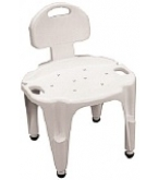 Bath And Shower Seat Composite Adjustable With Back B656-Carex