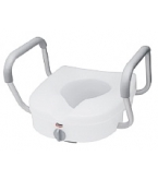 Toilet Seat Raised With Handles E-Z Lock B304-Carex