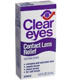 Clear Eyes Contact Lens Relief Soothing Drops 0.5oz
