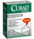 Curad Non-Stick Pads 3 Inches X 4 Inches  20ct