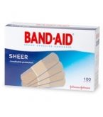 Band-Aid Bandage Sheer Regular 3/4 Inch - 100