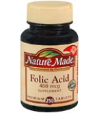 Nature Made Folic Acid 400 mcg Tablets 250ct