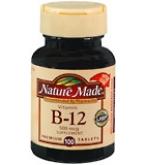 Nature Made Vitamin B-12 500 mcg Tablets 100ct