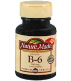 Nature Made Vitamin B-6 100 mg Tablets 100ct