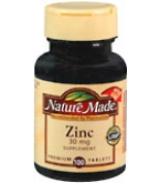 Nature Made Zinc 30 mg Tablets 100ct