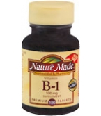 Nature Made Vitamin B-1 100 mg Tablets - 100