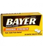 Bayer Aspirin (325mg) - 50 Coated Tablets
