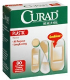 Curad Bandages Plastic Assorted Sizes - 80****OTC DISCONTINUED 2/28/14