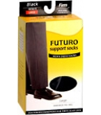 Futuro Support Socks Mens Dress Firm Large Black 1 Pair