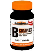 Sundown B-Complex Tablets - 100****OTC DISCONTINUED 2/28/14