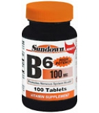 Sundown B-6 100 mg Tablets  100ct