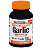 Sundown Odorless Garlic Softgels  100ct