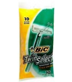 Bic Twin Shavers Sensitive Skin 10-Pack