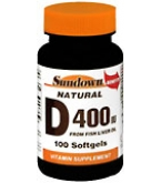Sundown D 400 IU Softgels Natural  100ct