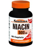 Sundown Niacin 500 mg Caplets Time Release 60ct