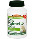 Sundown Saw Palmetto 450 mg Capsules 100ct