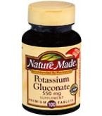 Nature Made Potassium Gluconate 550 mg Tablets - 100