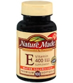 Nature Made Vitamin E 400 I.U. Softgels Water Solubilized 100ct