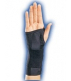 Elastic Stabilizing Left Wrist Brace (Black) - Small