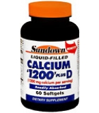 Sundown Calcium 1200 + D Softgels  - 60