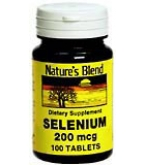 Natures Blend Selenium 200 mcg Tablets 100ct