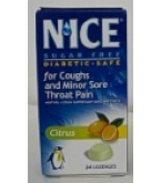 Nice Sugar Free Lozenges Citrus 24ct