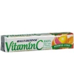 Halls Defense Vitamin C  Supplement Drops Assorted Citrus 9ct/20 Pack