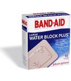 Band-Aid Bandage Water Block Plus Large 10/Box
