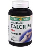 Natures Bounty Calcium Softgels Plus Vitamin D 100 ct